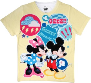 c79cdd35f1 MICKEY MOUSE FAMILY Boys Printed Polyester T Shirt Multicolor Pack ...