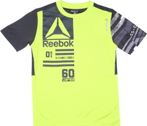 Reebok Boys Printed Polyester T Shirt Yellow Pack of 1 Best Price in ... ed6b96485e