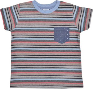 98a1f87680 Luke and Lilly Boys Striped Cotton T Shirt Multicolor Pack of 1 Best ...