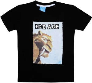 aa1bc4e64 Ice Age Boys Printed Cotton T Shirt Black Pack of 1 Best Price in ...