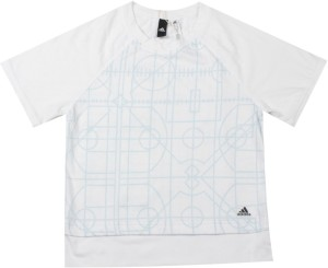 800bb25d Adidas Girls Printed Cotton Polyester Blend T Shirt White Pack of 1 ...