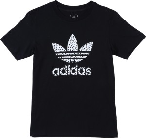 34bfafbce192 Adidas Girls Printed Cotton T Shirt Black Pack of 1 Best Price in ...