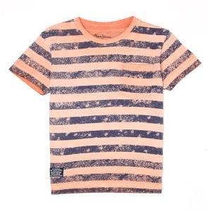 a2f128b81b Pepe Jeans Boys Striped T Shirt Orange Best Price in India | Pepe ...