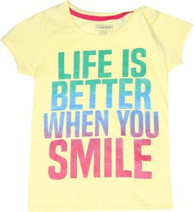 db90882e Cherokee Girls Printed Cotton T Shirt Yellow Pack of 1 Best Price in ...