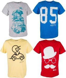 acquistare modellazione duratura in vendita all'ingrosso Abito Boys Printed Cotton T Shirt Multicolor Pack of 4 Best Price ...
