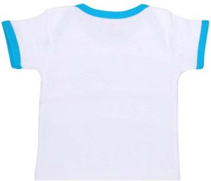 f44b4f647 Orange and Orchid Boys Girls Printed Cotton T Shirt White Pack of 5 ...