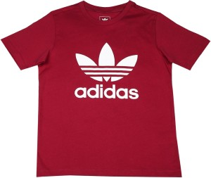 14d254799ea2 Adidas Girls Printed Cotton T Shirt Red Pack of 1 Best Price in ...
