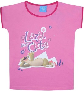 a0138d879 Ice Age Girls Printed Cotton T Shirt Pink Pack of 1 Best Price in ...