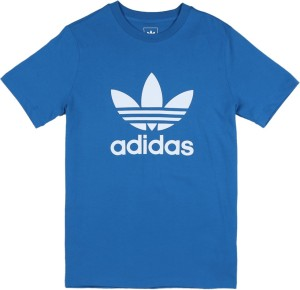 e6967c12 Adidas Boys Girls Printed Cotton T Shirt Blue Pack of 1 Best Price ...