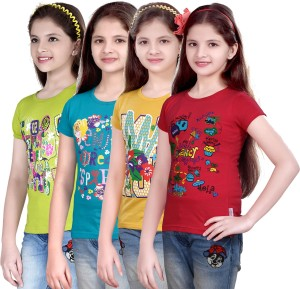 3e80ad4d8 Sini Mini Casual Cotton Top Pack of 4 Best Price in India