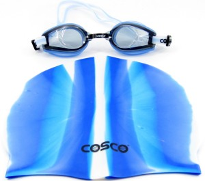 Cosco Goggles(AquaDash) & Cap Combo Pro Swimming Kit