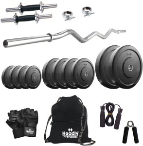 Headly 30 kg Combo 3 Home Gym & Fitness Kit