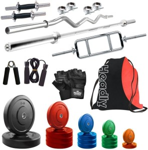 Headly Premium CP-HR-62KGCOMBO1 Coloured Gym & Fitness Kit