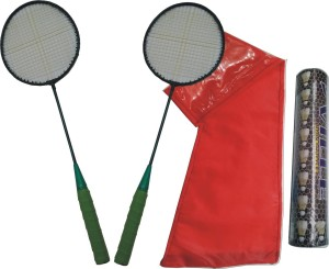 J&JC STRIKE TRIPLE (2 RACKET + 10 SHUTTLE + COVER) Badminton Kit