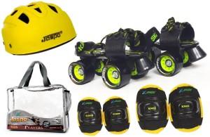Jaspo Jaspo Players Intact Senior Skates Combo (skates+helmet+knee+elbow+bag)suitable for age 6 to 14 years Skating Kit