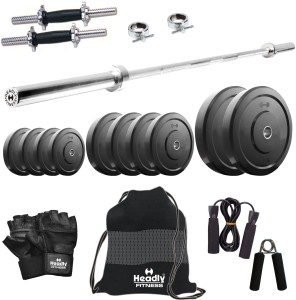 Headly 20 kg Combo 9 Home Gym & Fitness Kit