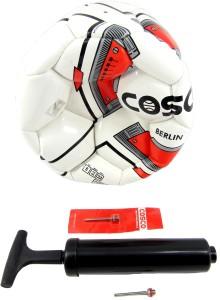 Cosco Berlin Foot ball (Size 5) & Ball Inflating Hand Pump Combo Football Kit