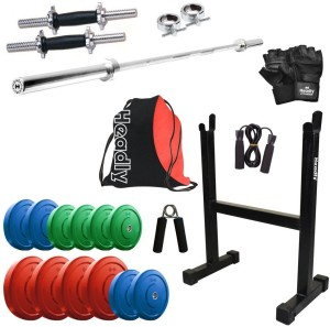 Headly Premium CP HR 40KGCOMBO17 Coloured Gym Fitness Kit Best Price ... 57a52f896a641