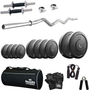 8a67e717656 Headly Home 40 kg Combo AA3 Gym Fitness Kit Best Price in India ...