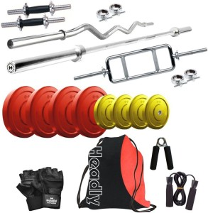 Headly Premium CP-HR-30KGCOMBO1 Coloured Gym & Fitness Kit