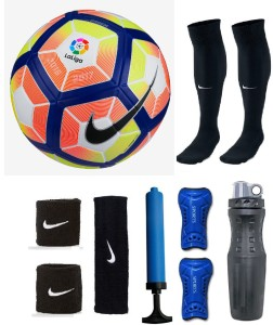 Retail World Laliga Multicolor Football (Size-5) Combo Football Kit