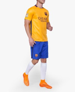 Navex Football Jersey Club Barcelona YellowShort Sleeve Ket XL Football Kit
