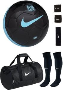 Retail World Manchestor City Black/Blue Football (Size-5) Combo Football Kit