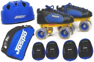 Jaspo Swift Intact Shoe Skates Combo(shoe skates+ helmet+knee+elbow+bag)Foot length 24.4 cms (For age group 10-11 years) Skating Kit