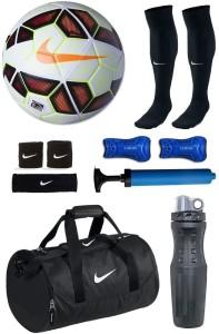 Retail World Premier League Red/White Football (Size-5) Combo Football Kit