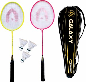 Bipan's Pro Practice Galaxy Set(Neon Series) With 3 Nylon Shuttle and a Cushioned Cover Badminton Kit