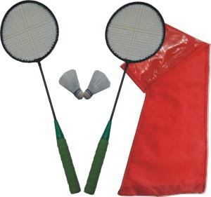 J&JC Dieu Vitesse (2 Badminton + 2 Shuttle + Cover Kit) G5 Strung