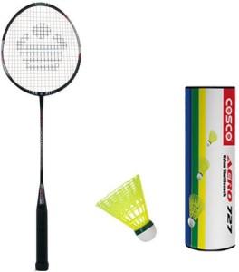 Cosco Cbx 410 With Aero 727 Nylon Shuttlecock Badminton Kit