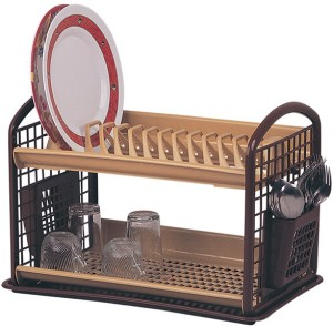 Trinity House Ware Collection Plastic Kitchen Rack