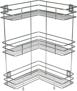 Kcl L Shape Stainless Steel Kitchen Racksilver
