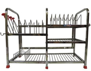 Maharaja Smart Modern For Dishes-Plates-Glass-Crockery Stainless Steel Kitchen Rack
