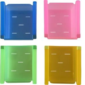Inddus Transparent Fridge Tray Plastic Kitchen Rack