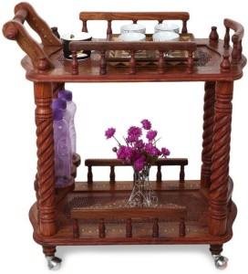 Onlineshoppee Wooden Kitchen Trolley