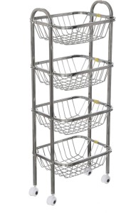 SHREE SINGHAL Four shelves Stainless Steel Kitchen Trolley