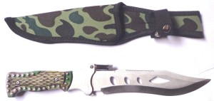 Shoptico Antique Knife With LED & Holding Cover Fixed Blade Knife