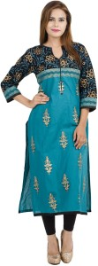 Zoeyams Printed Women's Straight Kurta