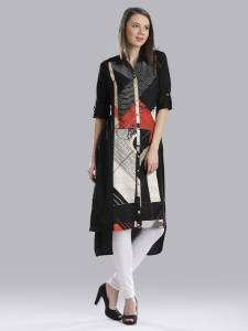 W Women's Printed Straight Kurta