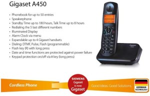 363a3e28c43 Gigaset A450 Cordless Landline Phone Black orange Best Price in ...