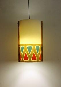 9 Gifts Indian ethnic Gold Polypropylene, Wooden Lantern