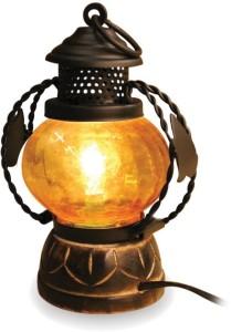 Zuniq Yellow Wooden Lantern