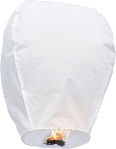 Little India White Paper Made Make a Wish Sky Lantern 103 White Paper Sky Lantern