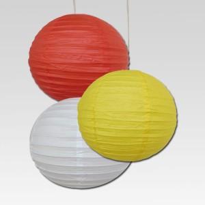 Christmas Tree Shops Red, Yellow, White Paper Lantern