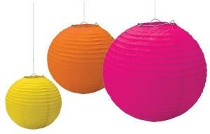 Dhol Dhamaka Pink, Orange, Yellow Paper Lantern