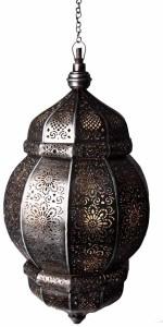 Sutra Decor 241015 Moroccan Brown Iron Lantern