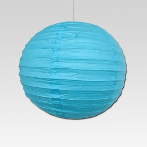 Christmas Tree Shops Blue Paper Lantern