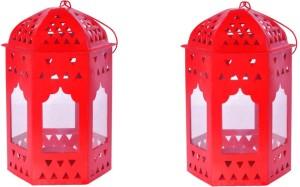 Sutra Decor Red Iron Lantern